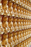 Ten thousand budda. Wall temple Royalty Free Stock Images