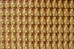 Ten thousand buddha on Chinese temple wall Stock Photos