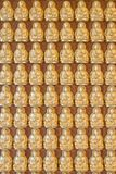 Ten thousand buddha on Chinese temple wall Royalty Free Stock Photography
