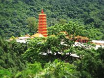 Ten thousand buddhas monastery. In Hongkong Sha Tin royalty free stock image
