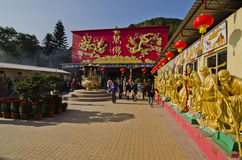 Ten Thousand Buddhas Monastery stock photography