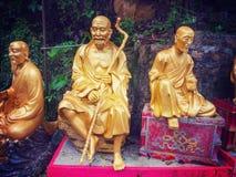 Ten thousand buddhas monastery in Hong Kong. 10000 buddhas monastery in Hong Kong Stock Photo