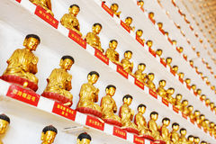 Ten Thousand Buddhas Monastery in Hong Kong stock photos