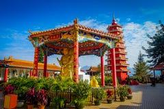 Ten Thousand Buddhas Monastery in Sha Tin, Hong Kong, China. Spectacular red pagoda at Ten Thousand Buddhas Monastery in Sha Tin, Hong Kong, China Royalty Free Stock Photo