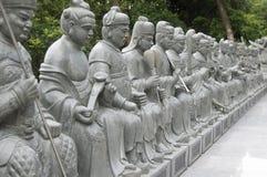 Ten Thousand Buddhas Monastery in Sha Tin, Hong Kong, China. royalty free stock photos