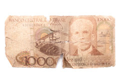 Ten thousand Cruzeiros - Antique Brazilian money Stock Photography