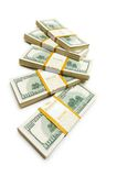 Ten thousand dollar stacks Stock Photo