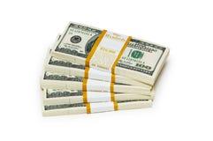 Ten thousand dollar stacks Royalty Free Stock Photos