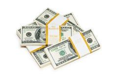 Ten thousand dollar stacks Royalty Free Stock Photo