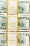 Ten thousand  dollar stacks on the white Royalty Free Stock Images