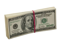 Ten thousand dollars in pack Royalty Free Stock Photography