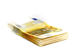 Ten thousand euro on a heap Royalty Free Stock Image