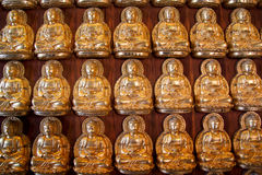 Ten thousand golden Buddha statue Royalty Free Stock Photos
