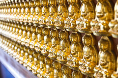 Ten Thousand Golden Buddhas Stock Image