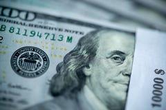 Ten thousand stack of hundred dollar bills royalty free stock photos