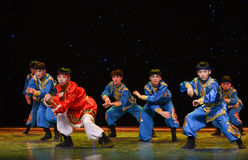 Ten thousand steeds gallop-Mongolia folk dance Royalty Free Stock Photos