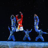 Ten thousand steeds gallop-Mongolia folk dance Royalty Free Stock Images