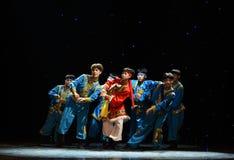 Ten thousand steeds gallop-Mongolia folk dance Stock Image