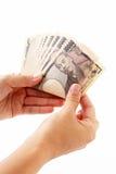 Ten thousand yen bills Royalty Free Stock Photo