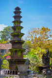 Ten-Tiered Decorative Fountain at Tirta Gangga in Indonesia Stock Image