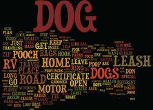 Ten Tips For Dog Owners On The Road In A Rv Text Background  Word Cloud Concept Royalty Free Stock Photography