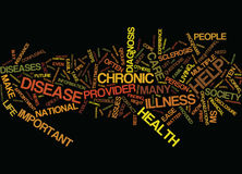 Ten Tips To Help Ease Life With A Chronic Disease Text Background  Word Cloud Concept Royalty Free Stock Image