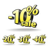 Ten, twenty, thirty, forty percent discount icon Royalty Free Stock Images