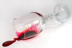 Ten val gebracht wijnglas Stock Foto