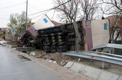 Ten val gebrachte vrachtwagen royalty-vrije stock afbeelding