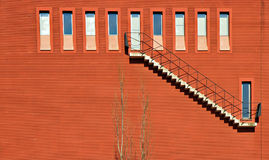Ten Windows and a staircase Royalty Free Stock Photos