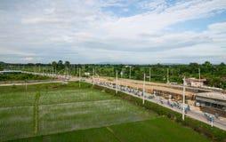 Ten wydarzenie przygotowywa dla roweru dla mamy wydarzenia od Tajlandia Obraz Royalty Free