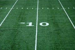 Ten Yard Line. View of ten yard line on an artificial turf football field Stock Photos