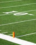 ten yard line Royalty Free Stock Photo