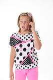 Ten Year Old Girl On the Phone Royalty Free Stock Photography