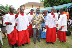 TEN YEARS OF AN AFRICAN PRIEST PRIESTHOOD Stock Photo