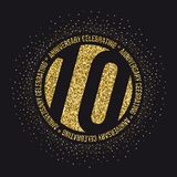 Ten years anniversary celebration logotype. 10th anniversary logo. Vector Royalty Free Stock Photos