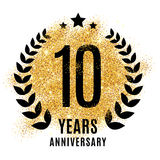 Ten years golden anniversary Stock Photos