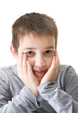 Ten-years-old boy Stock Photos