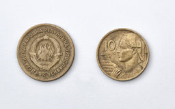 Ten Yugoslava Dinars Stock Images