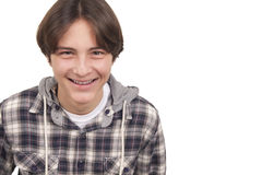Tenage boy smiling Stock Photos