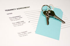 Tenancy Agreement Form Royalty Free Stock Photo