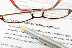 Free Tenant Agreement With The Landlord Royalty Free Stock Photography - 22717387
