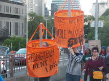 Tenants Rally for Stronger Rent Laws Stock Images