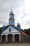 Tenaun kyrka, Chiloe, Chile royaltyfria bilder