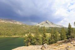 Tenaya Lake and clouds, daytime Royalty Free Stock Photography