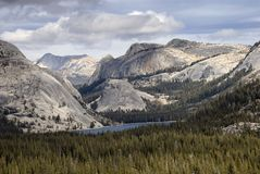Tenaya Lake and Granite Domes Stock Photography
