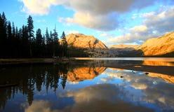 Tenaya lake in Yosemite national park. Tenaya lake reflections in Yosemite national park Royalty Free Stock Photos