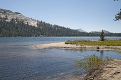 Tenaya Lake in Yosemite National Park Royalty Free Stock Photography