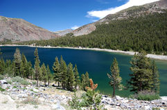 Tenaya lake in Yosemite National Park. Tenaya lake, a magnificent High Sierra lake surrounded by granite domes in Yosemite National Park, California Royalty Free Stock Photo