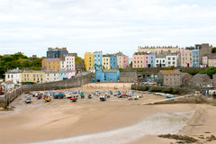 Tenby 01. A little town called Tenby in Pembrokeshire (Wales), Great Britain Stock Photography